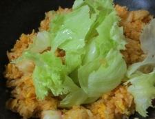 タコキムチレタス炒飯 調理⑤