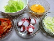 タコキムチレタス炒飯 材料