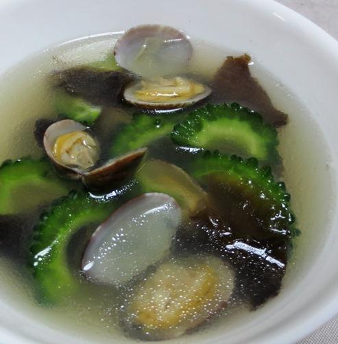 ゴーヤとあさりのスープ 大
