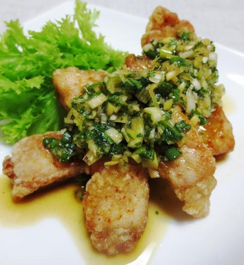 豚ロース唐揚げ香味タレ B