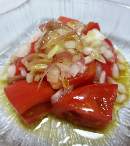 トマトのサラダ オニオン&みょうが添え B