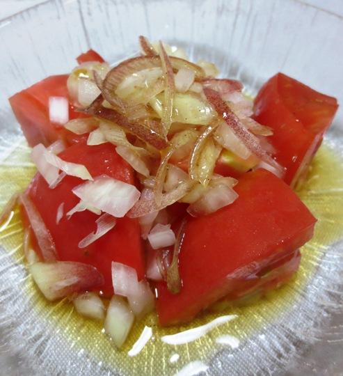 トマトのサラダ オニオン&みょうが添え 大