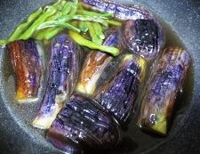 茄子といんげんの炊いたん調理②