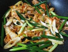 稲庭ツナキムチ中華風うどん 調理②