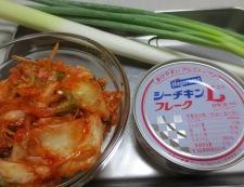 稲庭ツナキムチ中華風うどん 材料①