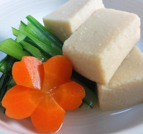 高野豆腐と小松の炊いたん B