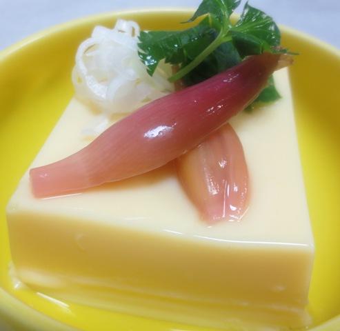 玉子豆腐 みょうがの甘酢漬け添え B