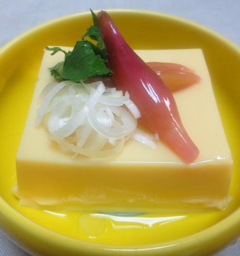 玉子豆腐 みょうがの甘酢漬け添え 大
