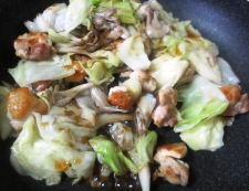 鶏キャベツの柚子ポン炒め 調理⑤