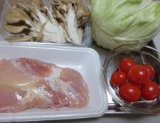 鶏キャベツの柚子ポン炒め 材料