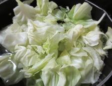 鶏キャベツの柚子ポン炒め 調理①