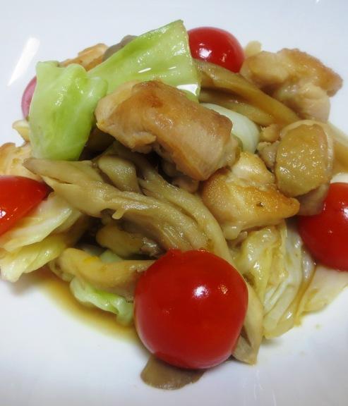 鶏キャベツの柚子ポン炒め 大