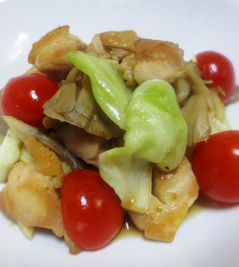 鶏キャベツの柚子ポン炒め B