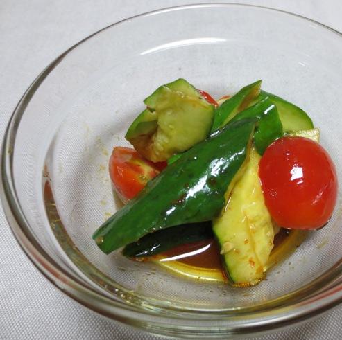 たたききゅうりとミニトマト ピリ辛和え B