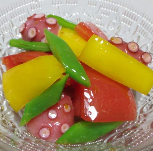 タコとトマトの柚子胡椒ドレッシング和え B