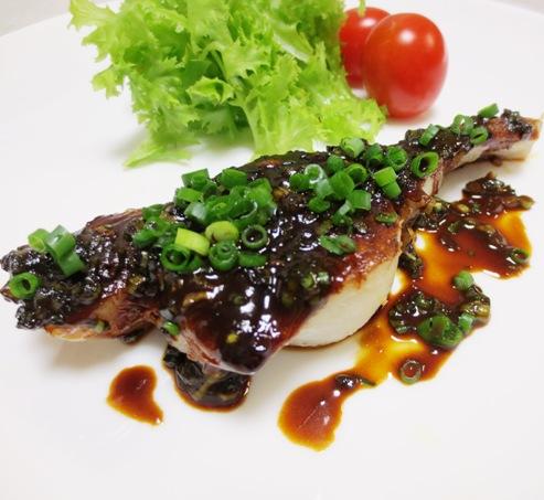白身魚の甘味噌焼き 拡大