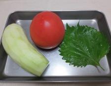 蒸しナスとトマトのサラダ 材料