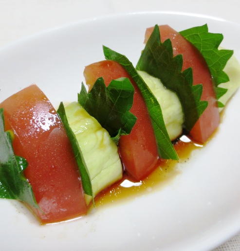 蒸しナスとトマトのサラダ 大