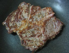 ビーフステーキ わさび醤油 調理②