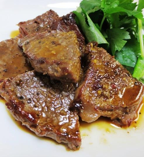 ビーフステーキ わさび醤油 B