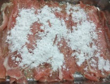 豚肉の唐揚げ 生姜あんかけ調理①