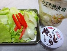 焼き鳥缶でレタス炒め 材料