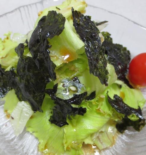 レタスと韓国海苔サラダ 大