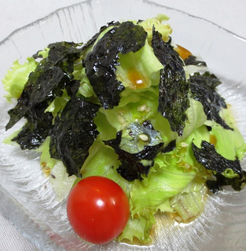 レタスと韓国海苔サラダ B