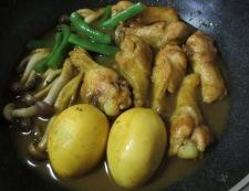 手羽元の和風カレー煮 調理④