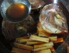 鯛のかぶと煮 調理④