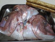 鯛のかぶと煮 材料