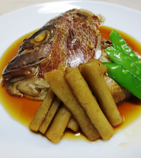 鯛のかぶと煮 拡大