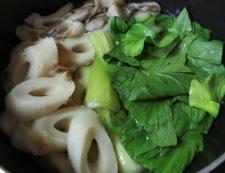 青梗菜とちくわの炊いたん 調理②