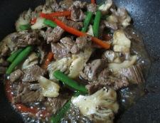 牛肉の黒胡椒炒め 調理③