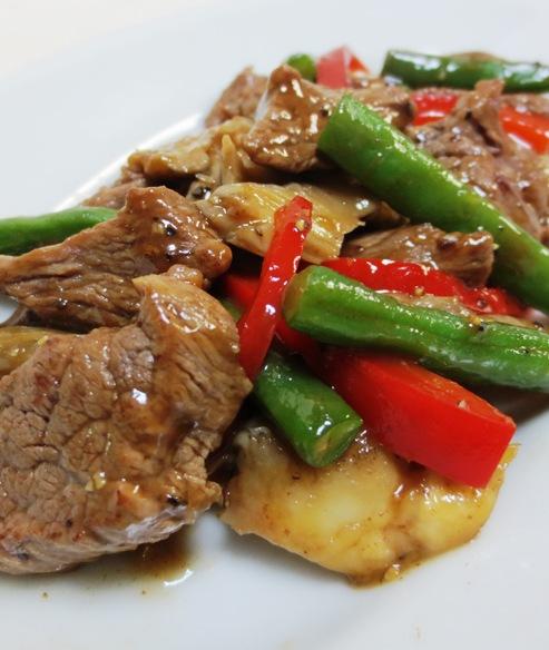 牛肉の黒胡椒炒め 大