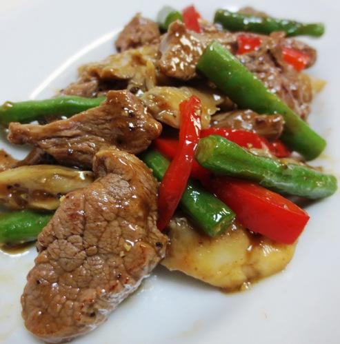 牛肉の黒胡椒炒め B