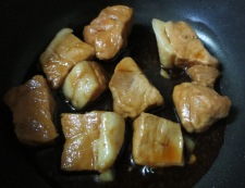 さっぱり豚もも肉の角煮 調理②