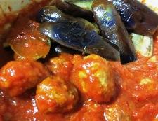 ミートボールと茄子のトマト煮 調理④