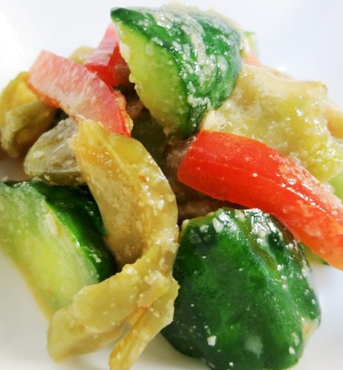 ザーサイときゅうりの胡麻酢サラダ B