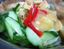 お揚げとレタスの酢味噌サラダ 調理②