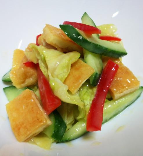 お揚げとレタスの酢味噌サラダ B