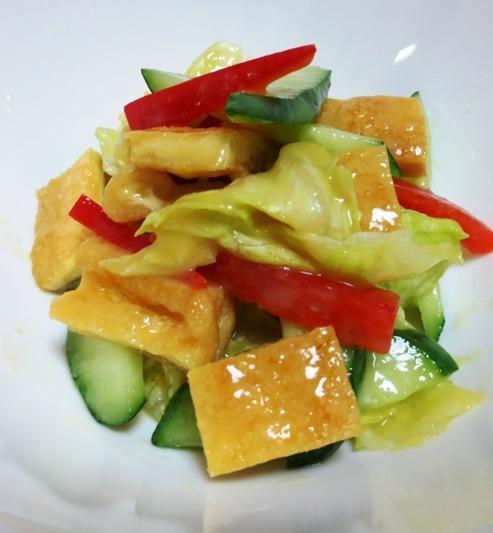 お揚げとレタスの酢味噌サラダ 大