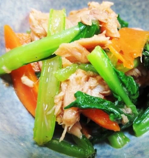 ツナと小松菜のポン酢ペパー和え B