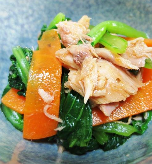 ツナと小松菜のポン酢ペパー和え 大