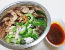 豚肉とゴーヤのピリ辛和え 調理