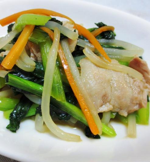 小松菜と豚バラ肉炒め B