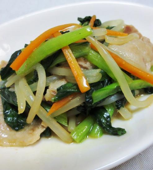 小松菜の豚バラ肉炒め 大