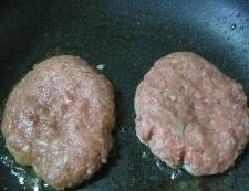 クリームシチューソースのハンバーグ 調理⑤