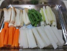 牛肉と野菜の中華スープ煮 【下準備】野菜
