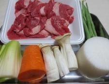 牛肉と野菜の中華スープ煮 材料